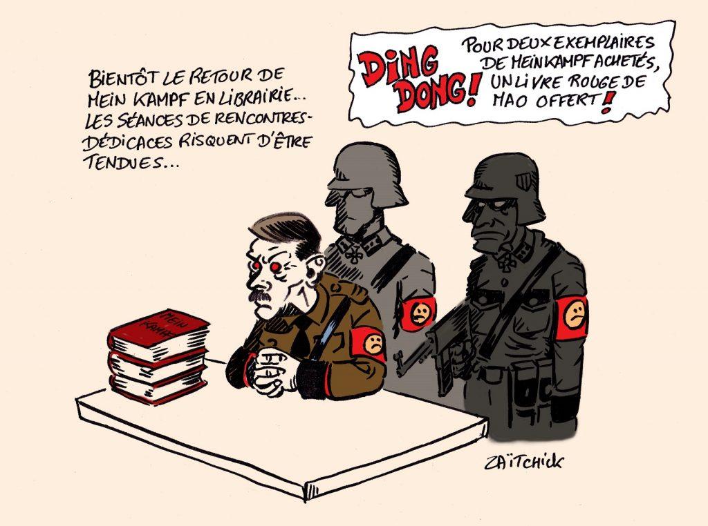 dessin presse humour Adolf Hitler image drôle Mein Kampf retour librairie