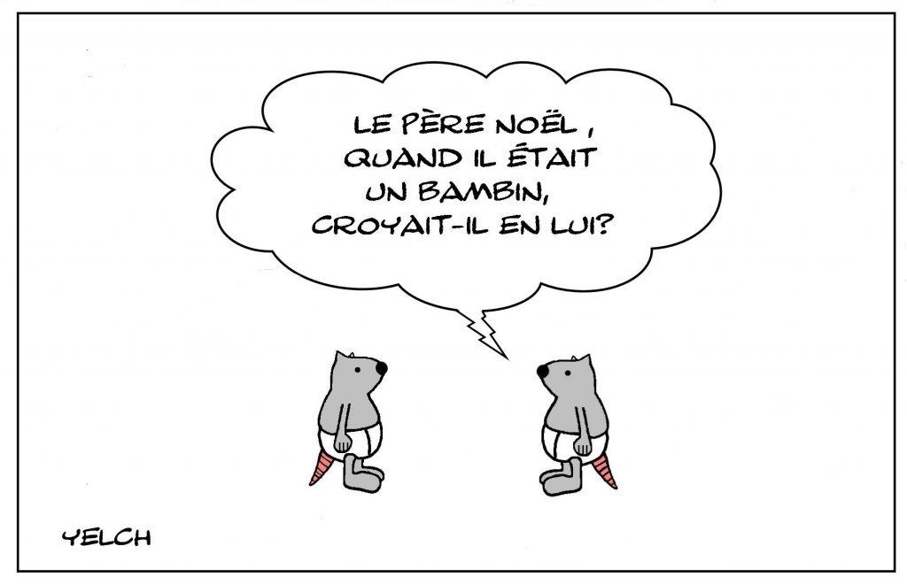 dessins humour enfant enfance image drôle croyance Père Noël