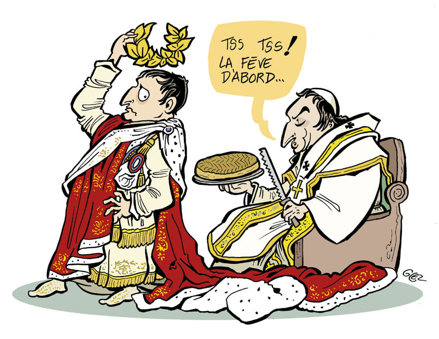 dessin presse humour Napoléon Bonaparte image drôle bicentenaire mort Napoléon