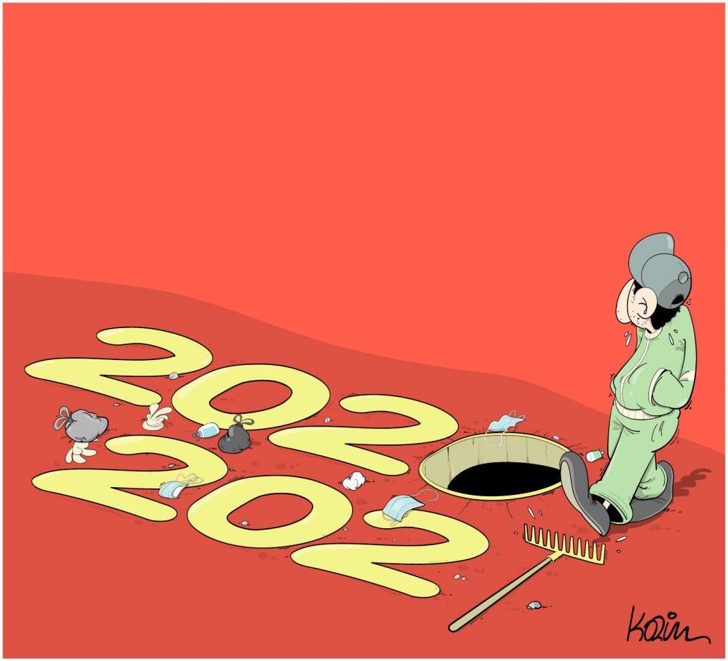 dessin presse humour bonne année 2021 image drôle nouvelle année 2021