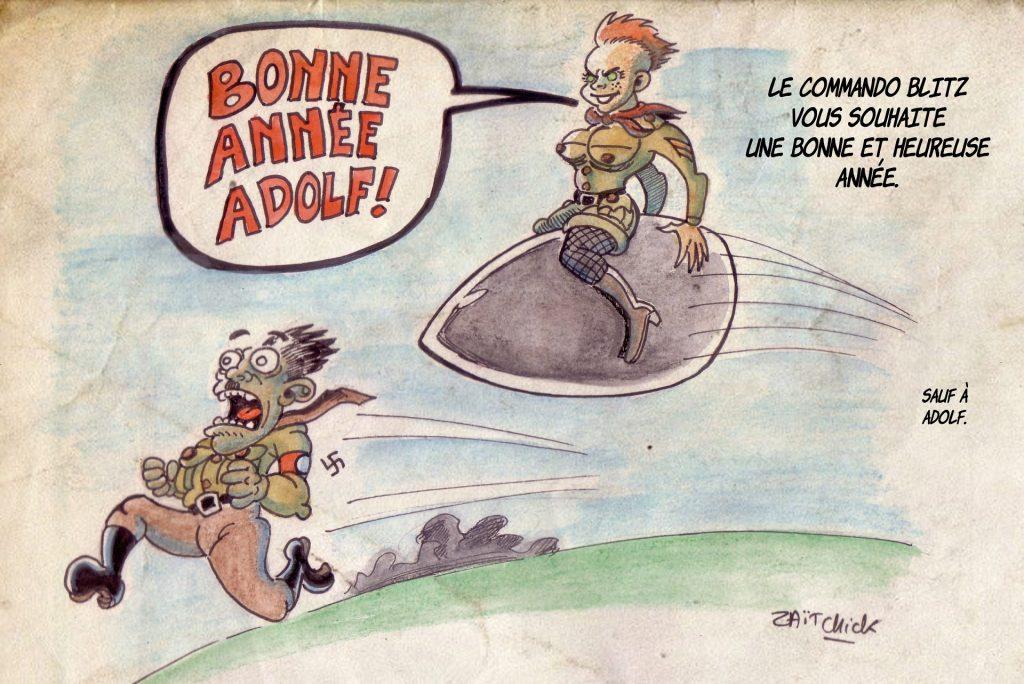 Commando Blitz BD bande dessinée nazi guerre mondiale robots science-fiction parodie bonne année