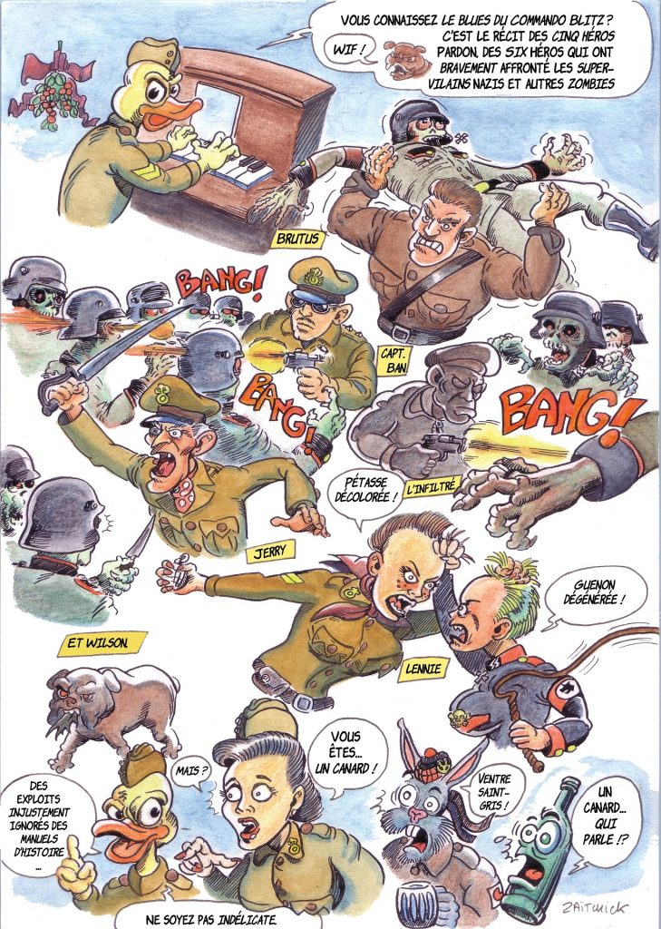 Commando Blitz BD bande dessinée nazi guerre mondiale robots science-fiction parodie Saint-Sylvestre