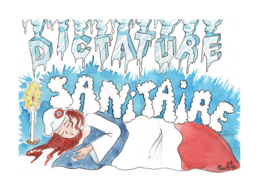 dessin presse humour coronavirus covid-19 image drôle Marianne dictature sanitaire