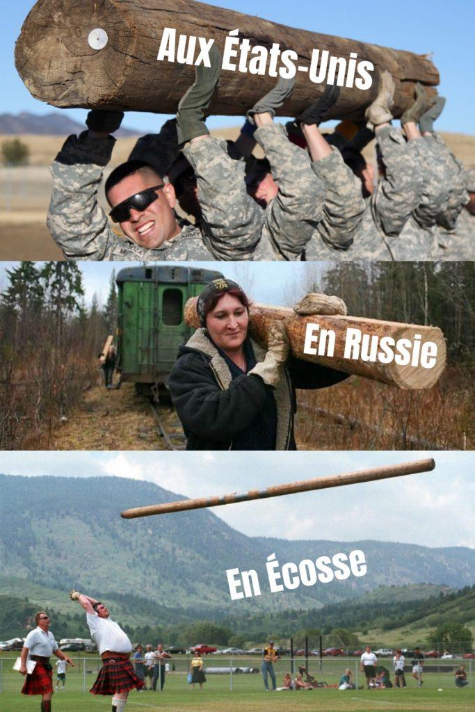 dessin humour tronc arbre image drôle États-Unis Russie Écosse