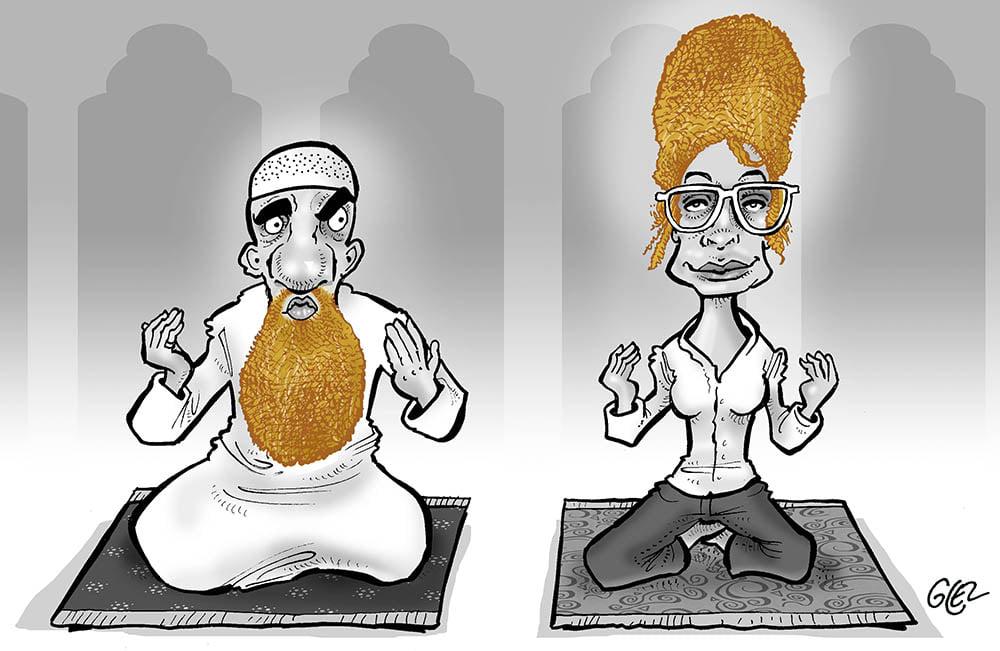 dessin presse humour Islam musulmanes image drôle femmes imames