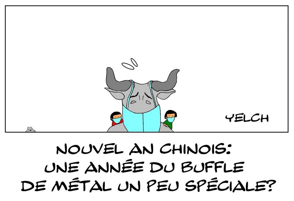 dessins humour nouvel an chinois image drôle année buffle métal