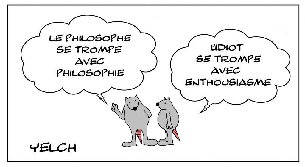 image drôle philosophie pensée dessin humour philosophe idiot erreur