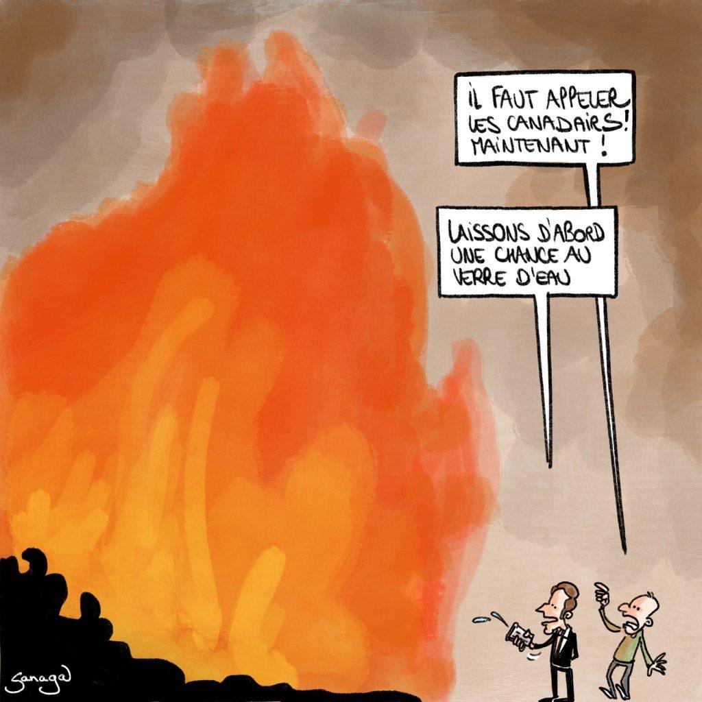 dessin presse humour coronavirus confinement image drôle Emmanuel Macron couvre-feu