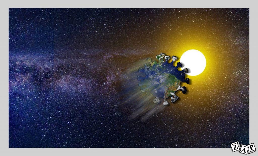 dessin presse humour coronavirus covid-19 image drôle planète Terre