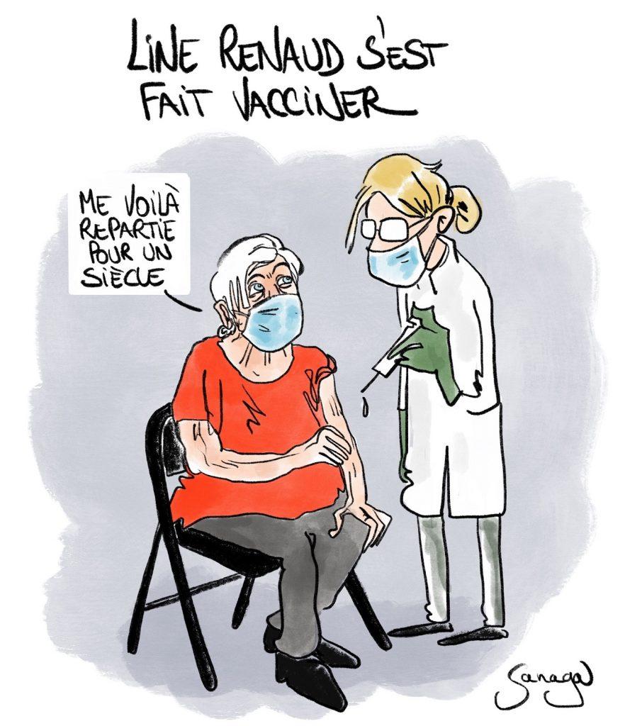 dessin presse humour coronavirus covid-19 image drôle vaccin anti-covid Line Renaud