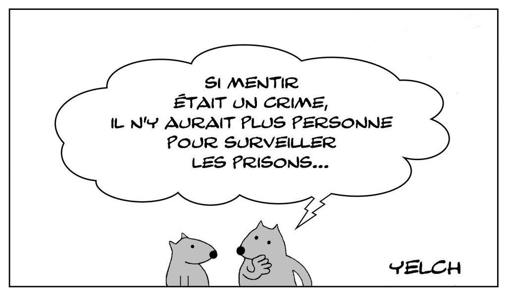 image drôle philosophie pensée dessin humour crime mensonge