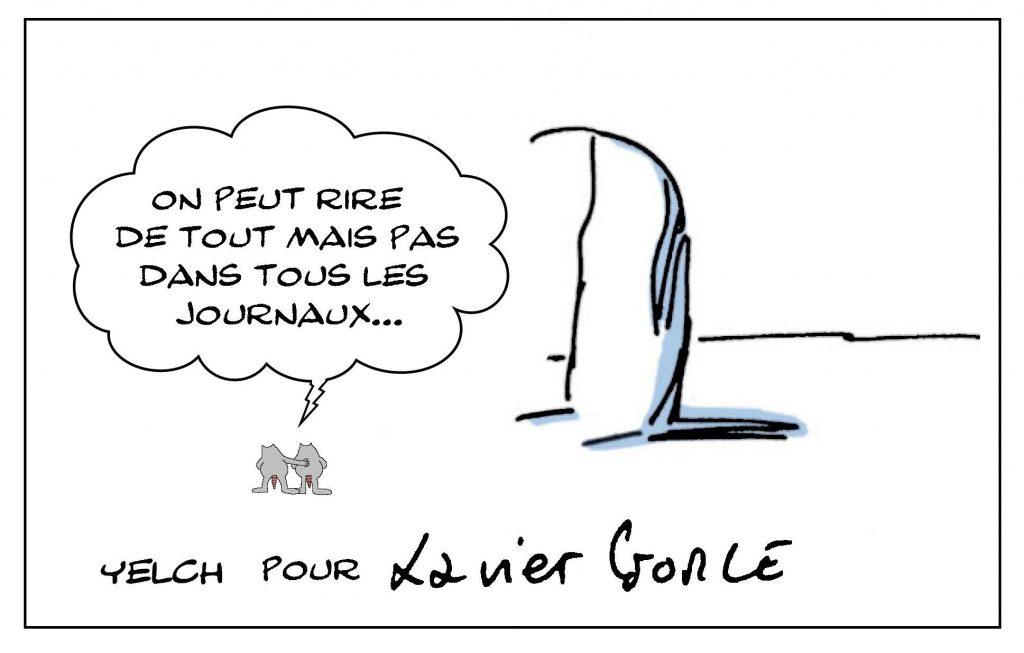 dessins humour dessinateur de presse image drôle censure Xavier Gorce indégivrables