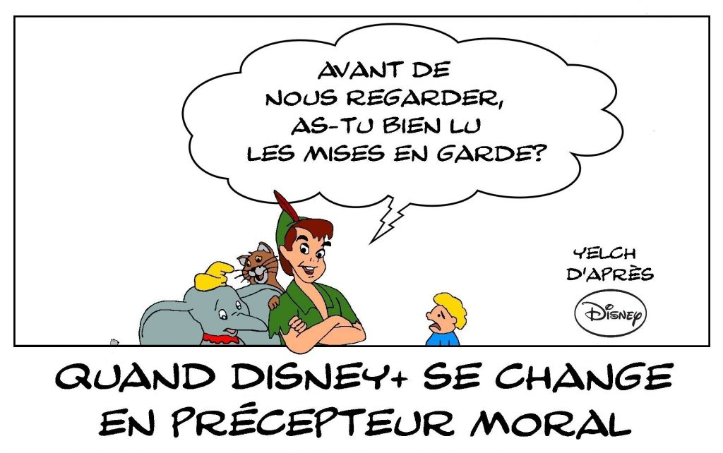 dessins humour censure Disney+ image drôle Peter Pan Dumbo Aristochats