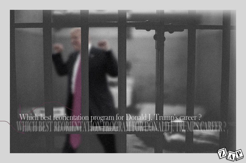dessin presse humour États-Unis Amérique image drôle Donald Trump carrière prison