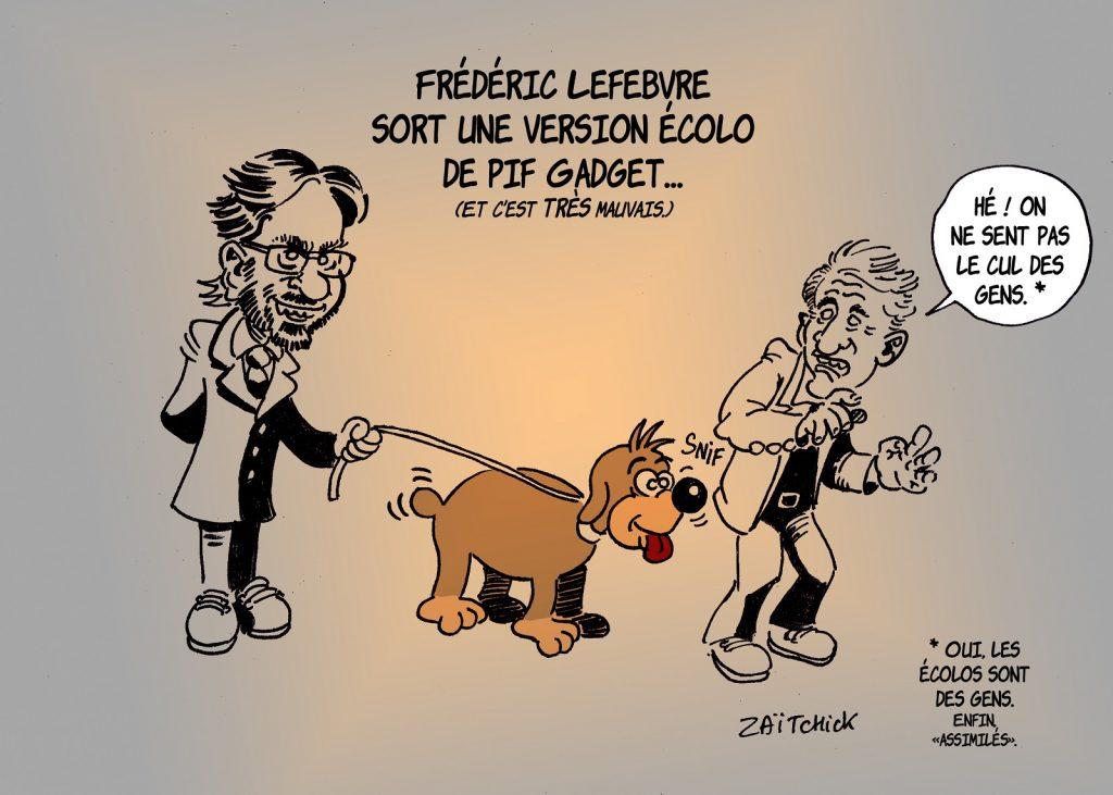 dessin presse humour Frédéric Lefebvre image drôle pif gadget écolo