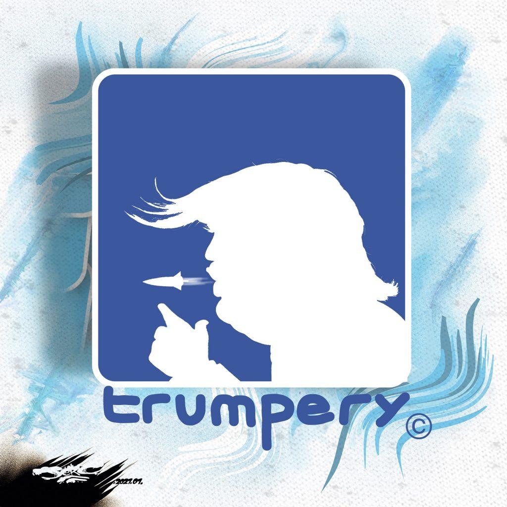 dessin presse humour Donald Trump liberté d'expression image drôle censure Facebook Twitter