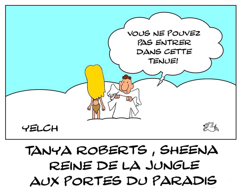 image drôle Tanya Roberts dessin humour Sheena James Bond