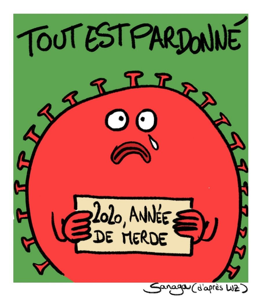 dessin presse humour coronavirus covid-19 image drôle 2020 année merde