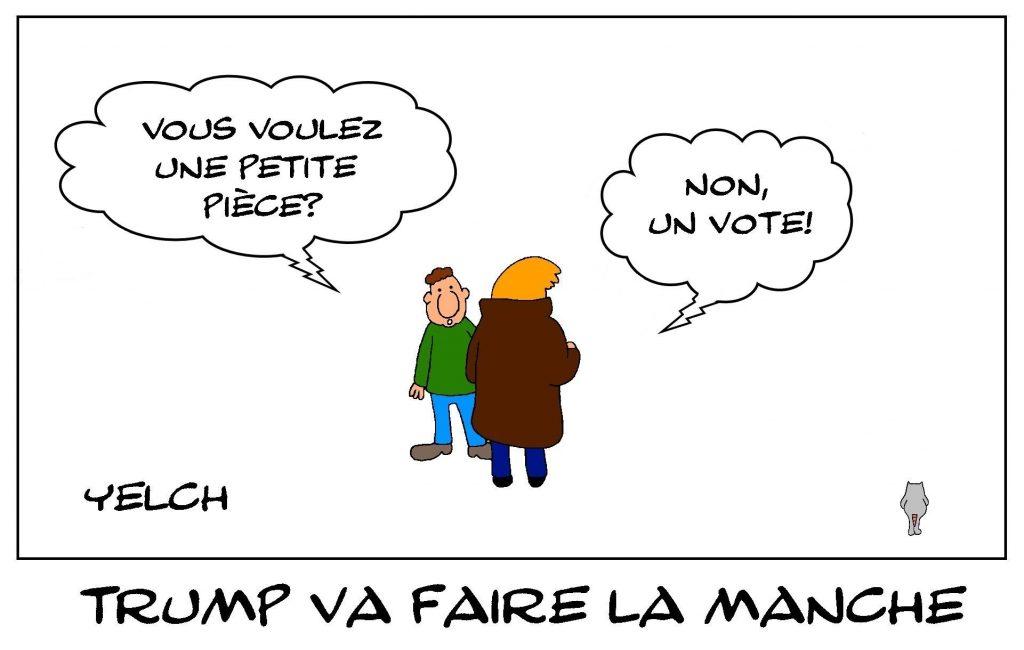 dessins humour États-Unis élections américaine image drôle Donald Trump vote