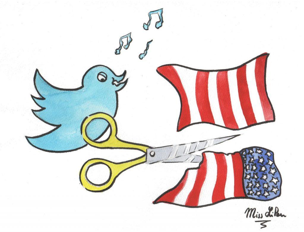 dessin presse humour Donald Trump États-Unis image drôle censure Twitter