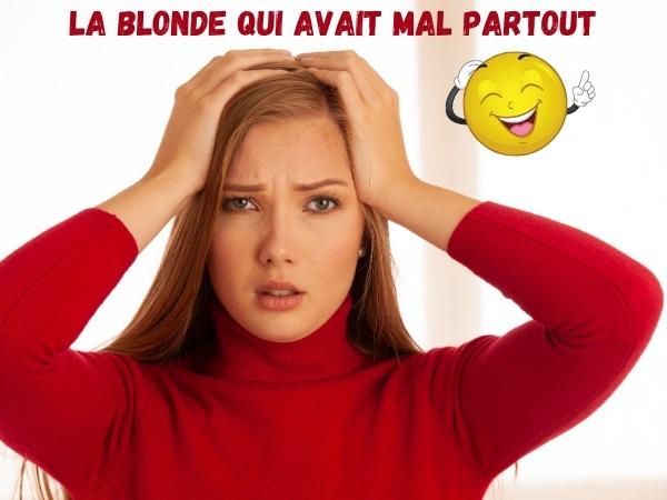humour, Blague sur les blondes, blondes, blessure, médecin, médecine, santé, bêtise, doigt, fracture, douleur