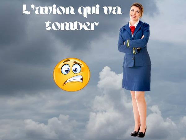 humour, blague avion, blague chute, blague accident, blague accident d'avion, blague passager, blague steward, blague hôtesse de l'air, blague chanson, blague La rirette, blague avertissement
