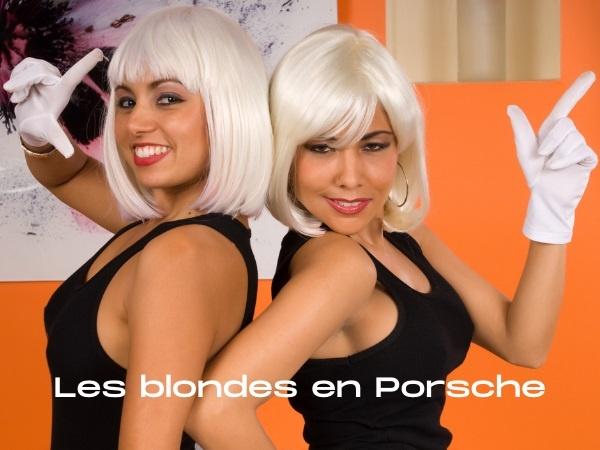 humour, blague sur les blondes, blague sur les Porsche 911 Carrera, blague sur les moteurs, blague sur les pannes d'essence, blague sur les capots, blague sur les coffres