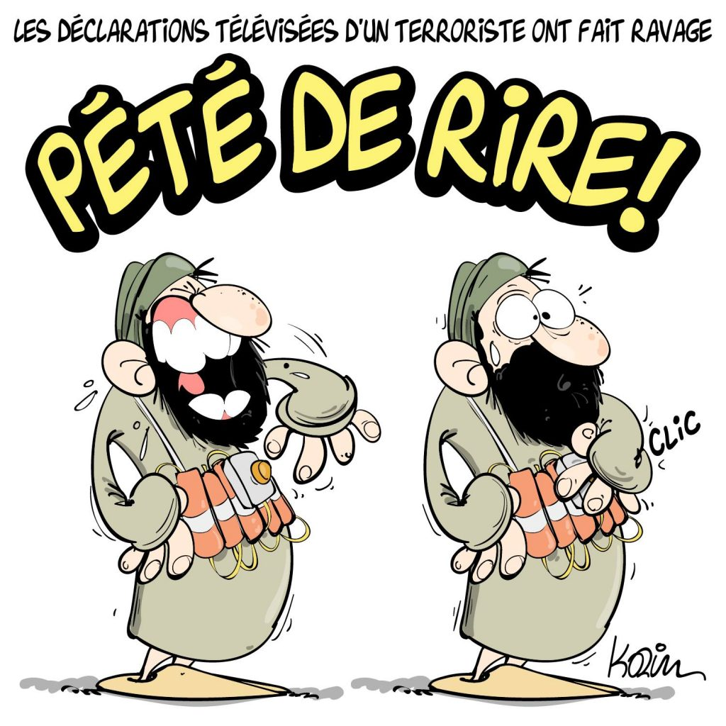 dessin presse humour Algérie image drôle témoignage terroriste fake news hirak