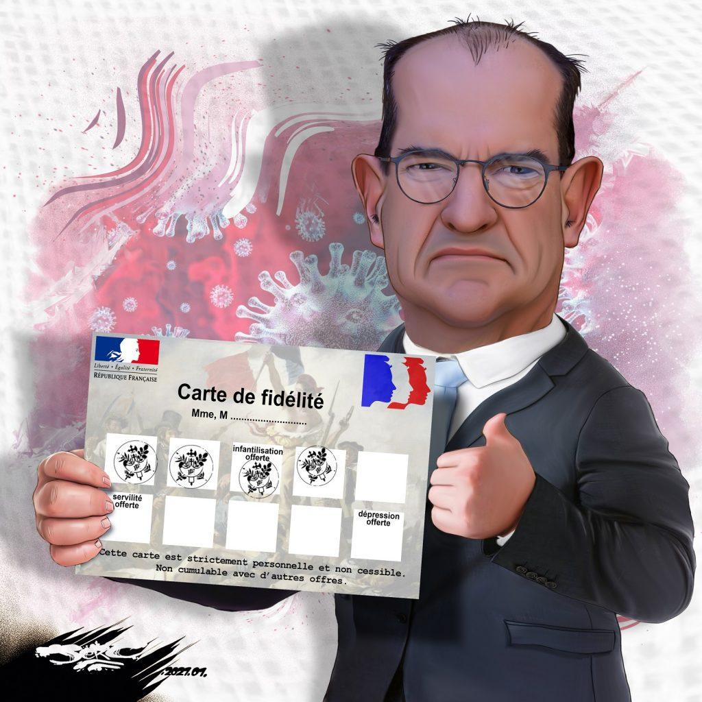 dessin presse humour coronavirus covid19 image drôle Jean Castex couvre-feu confinement