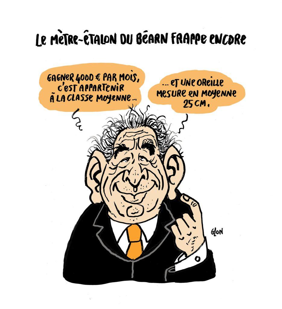 dessin presse humour François Bayrou image drôle classe moyenne