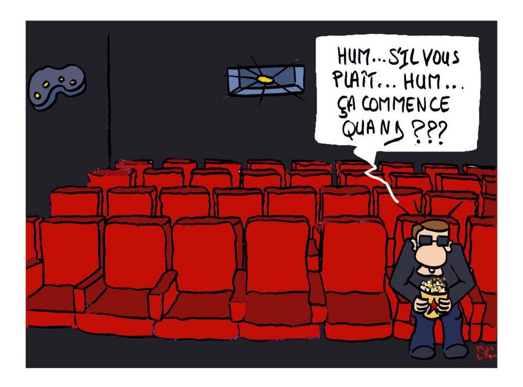 dessin presse humour fermeture cinéma image drôle coronavirus covid19
