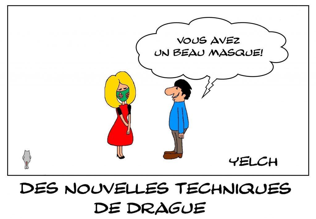 dessins humour technique drague image drôle coronavirus covid-19