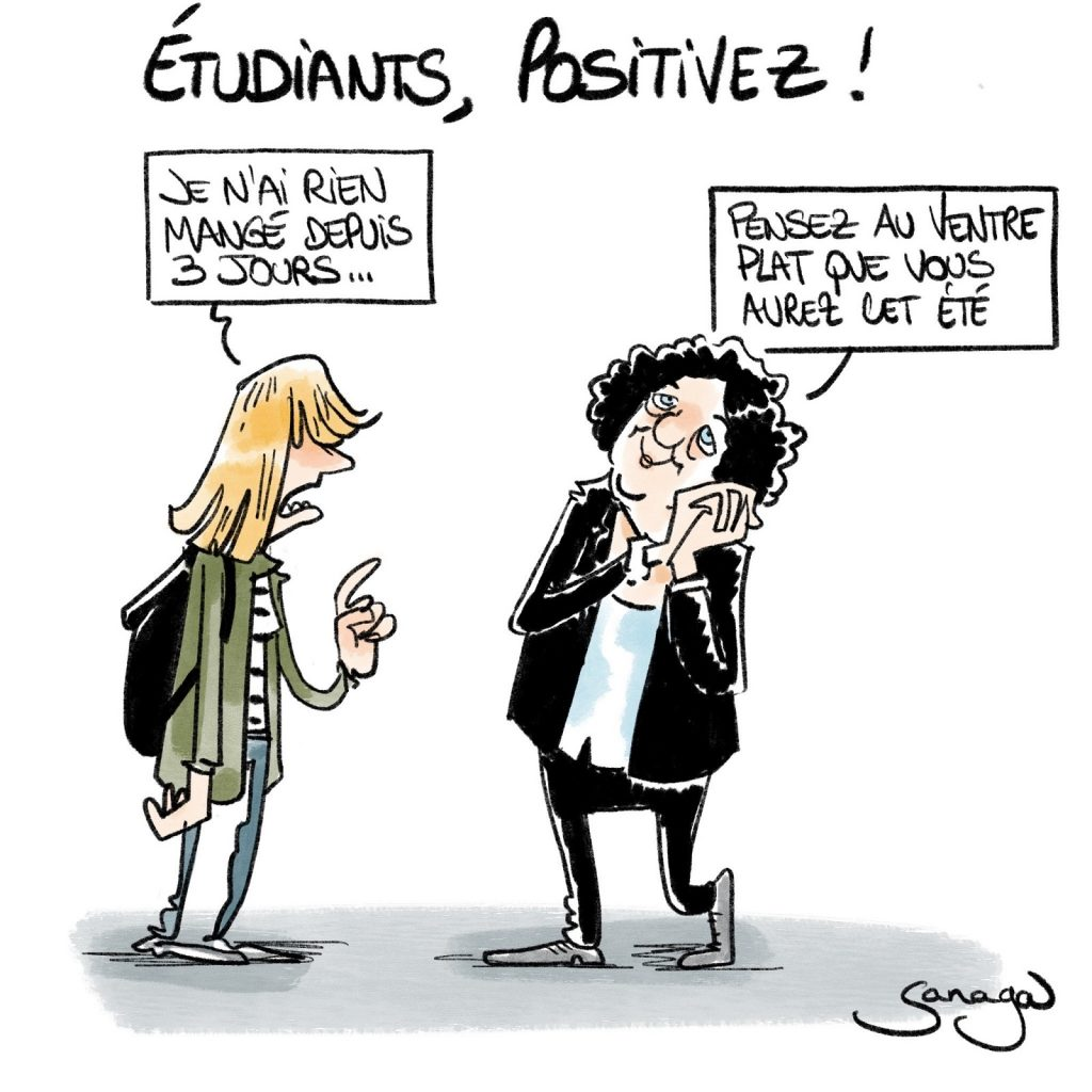dessin presse humour Frédérique Vidal image drôle étudiants positivisme