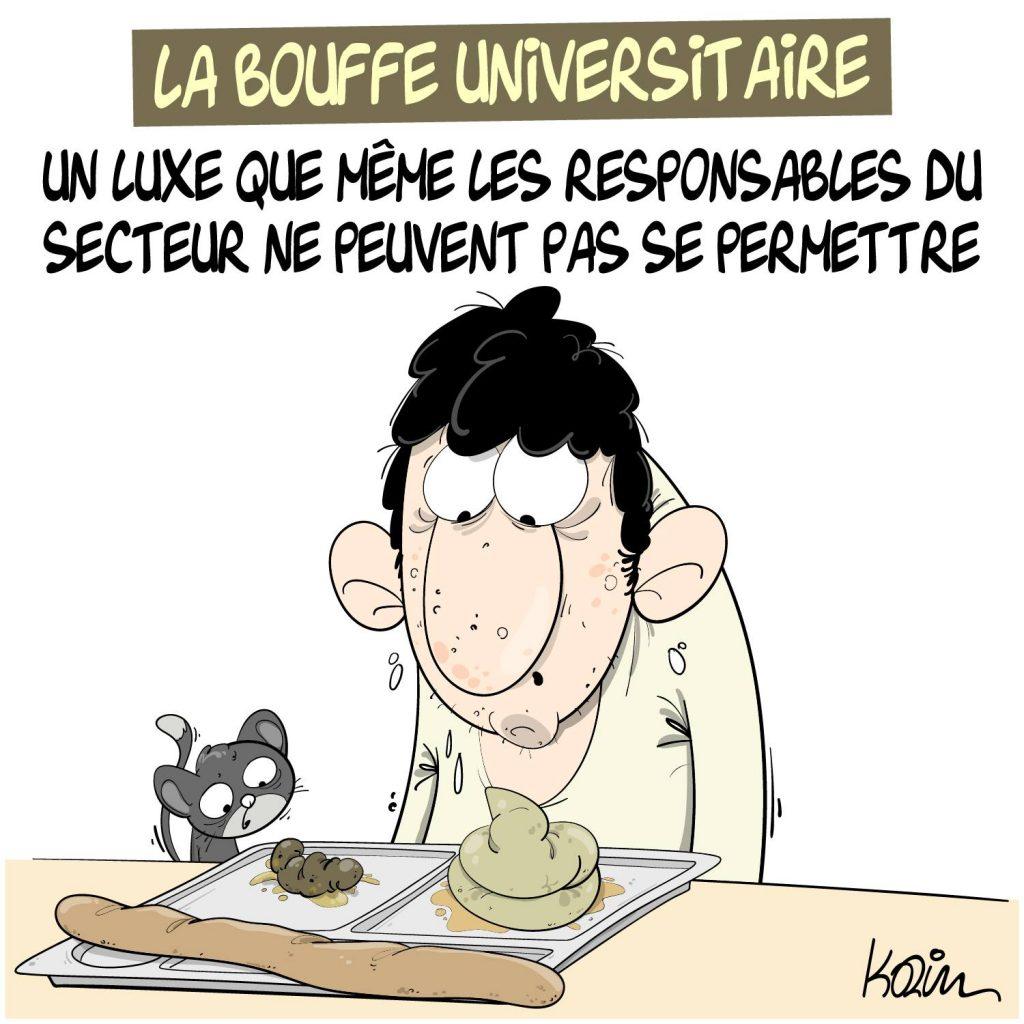 dessin presse humour université image drôle bouffe universitaire