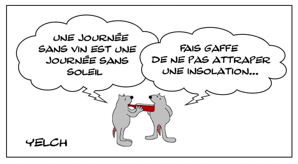 dessins humour vin soleil image drôle alcoolisme insolation