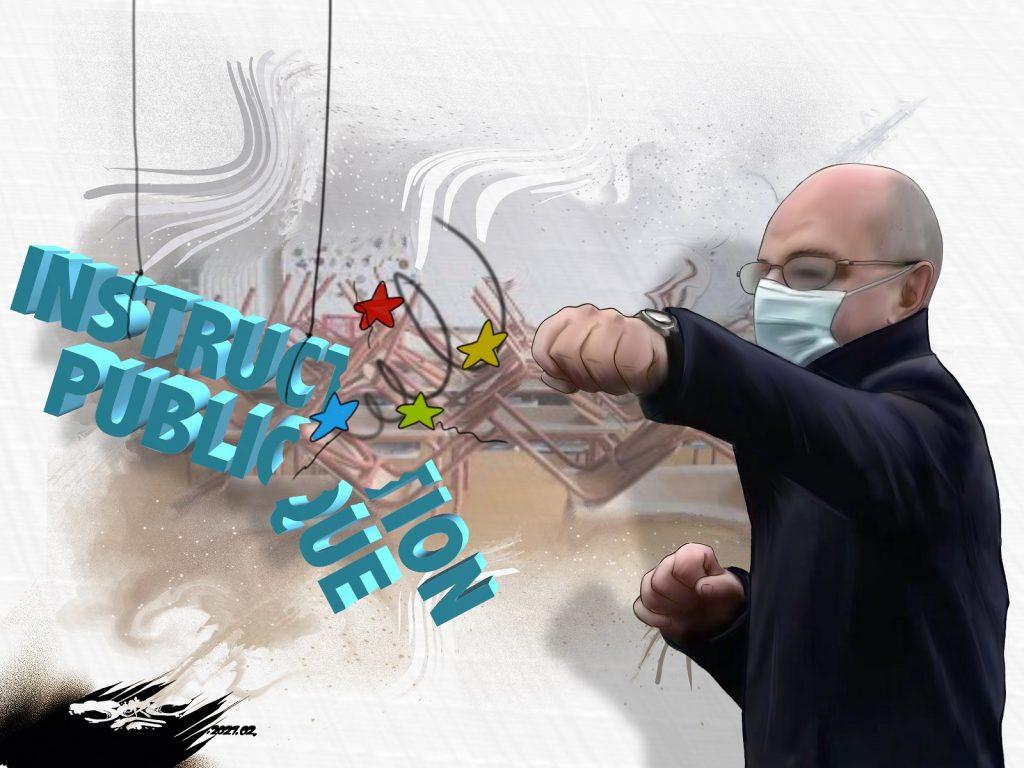 dessin presse humour instruction publique image drôle Jean-Michel Blanquer méthode