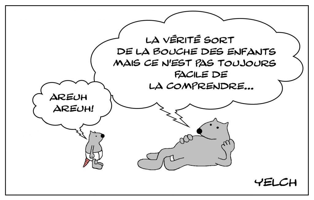 dessins humour proverbe enfants image drôle vérité bouche