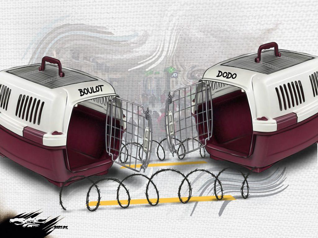 dessin presse humour coronavirus covid19 image drôle couvre-feu esclavage