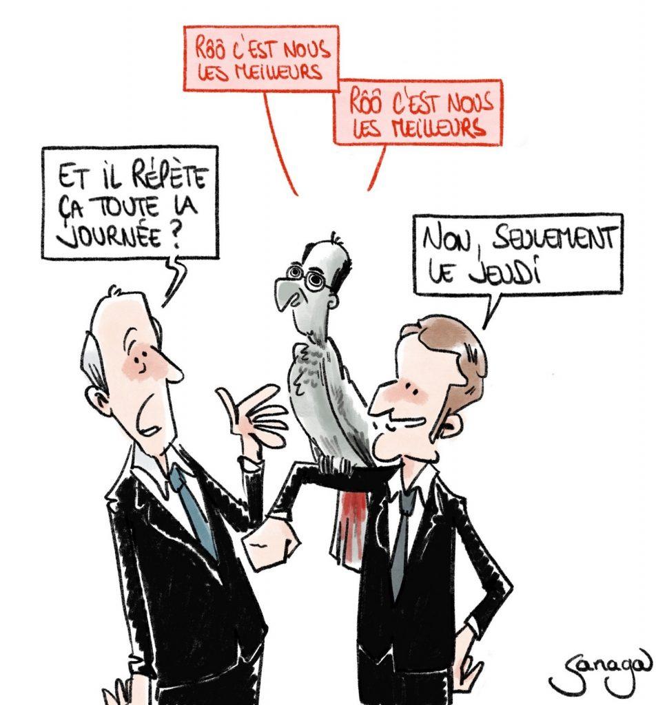 dessin presse humour coronavirus covid19 image drôle Jean Castex Emmanuel Macron