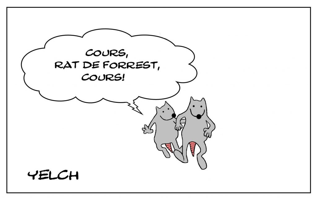 dessins humour Forrest Gump image drôle cinéma Tom Hanks