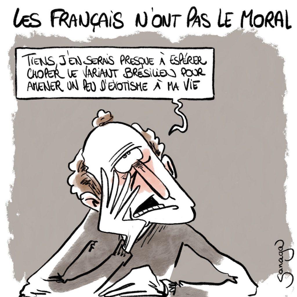 dessin presse humour coronavirus covid-19 image drôle moral français