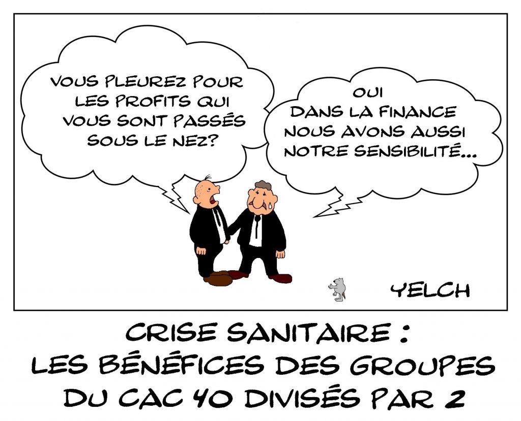 dessins humour coronavirus crise sanitaire image drôle crise financière CAC40