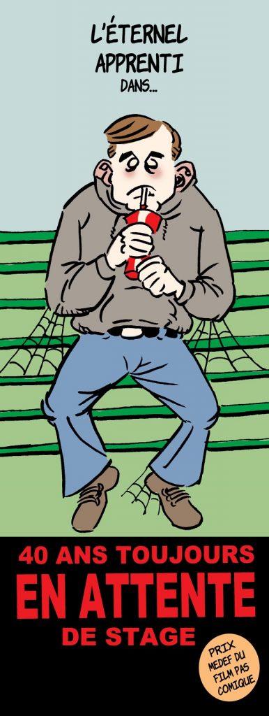 dessin presse humour apprentissage Medef image drôle apprenti éternel