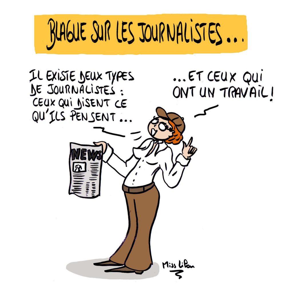 dessin presse humour journalistes image drôle sincérité travail