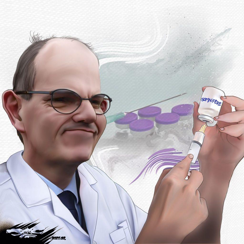 dessin presse humour coronavirus covid19 image drôle vaccins Jean Castex