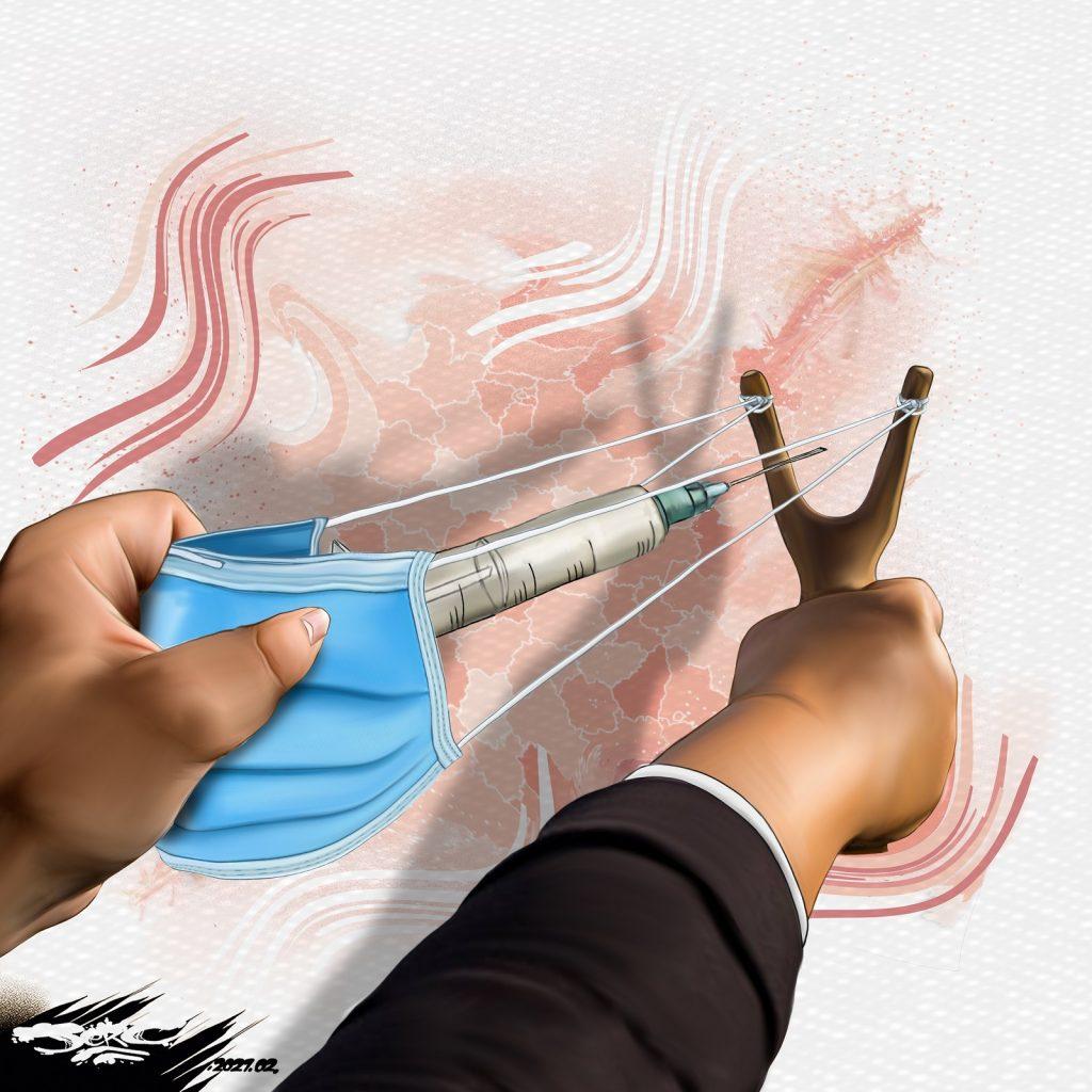 dessin presse humour coronavirus covid-19 image drôle vaccination restriction