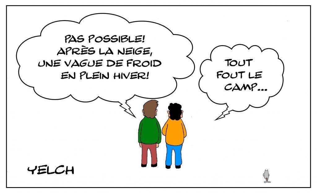 dessins humour France météo image drôle saison hiver froid neige