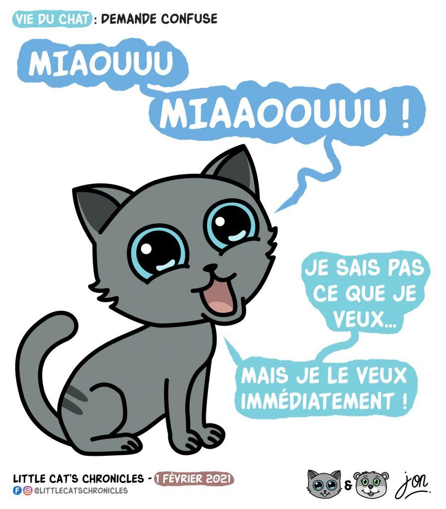 dessin humour little cat blague image drôle chat miaulement