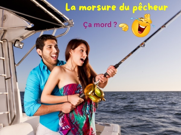 humour, blague pêcheurs, blague sports, blague pêche, blague couples, blague morsure, blague poissons