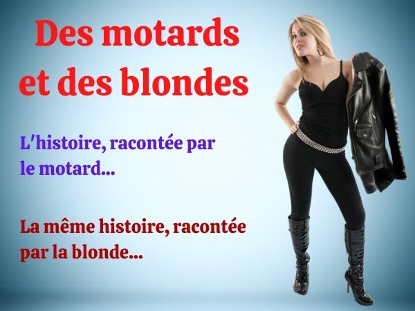 humour, blague motards, blague motos, blague séduction, blague sexe, blague blondes, blague culottes